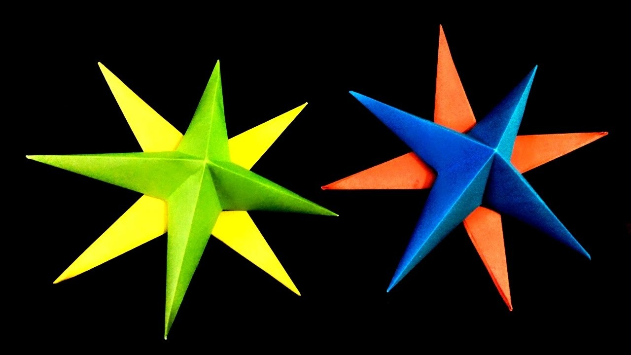 How to make 3d origami paper stars christmas star origami for How to make 3d paper stars easy