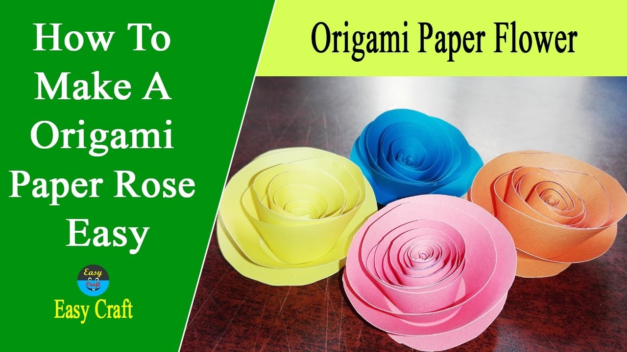 How to make a origami paper rose easy easy origami for How to make a paper rose origami