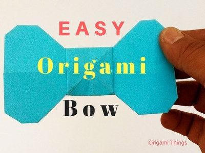 how to make a paper bow step by step