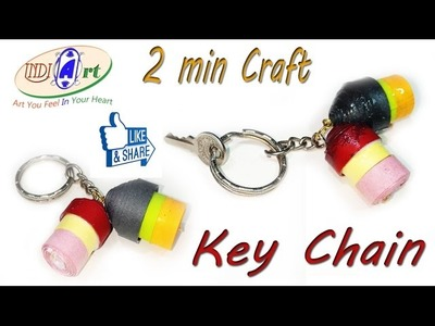 How to Make a Paper House Key chain - Easy Tutorials  INDI ART  #11