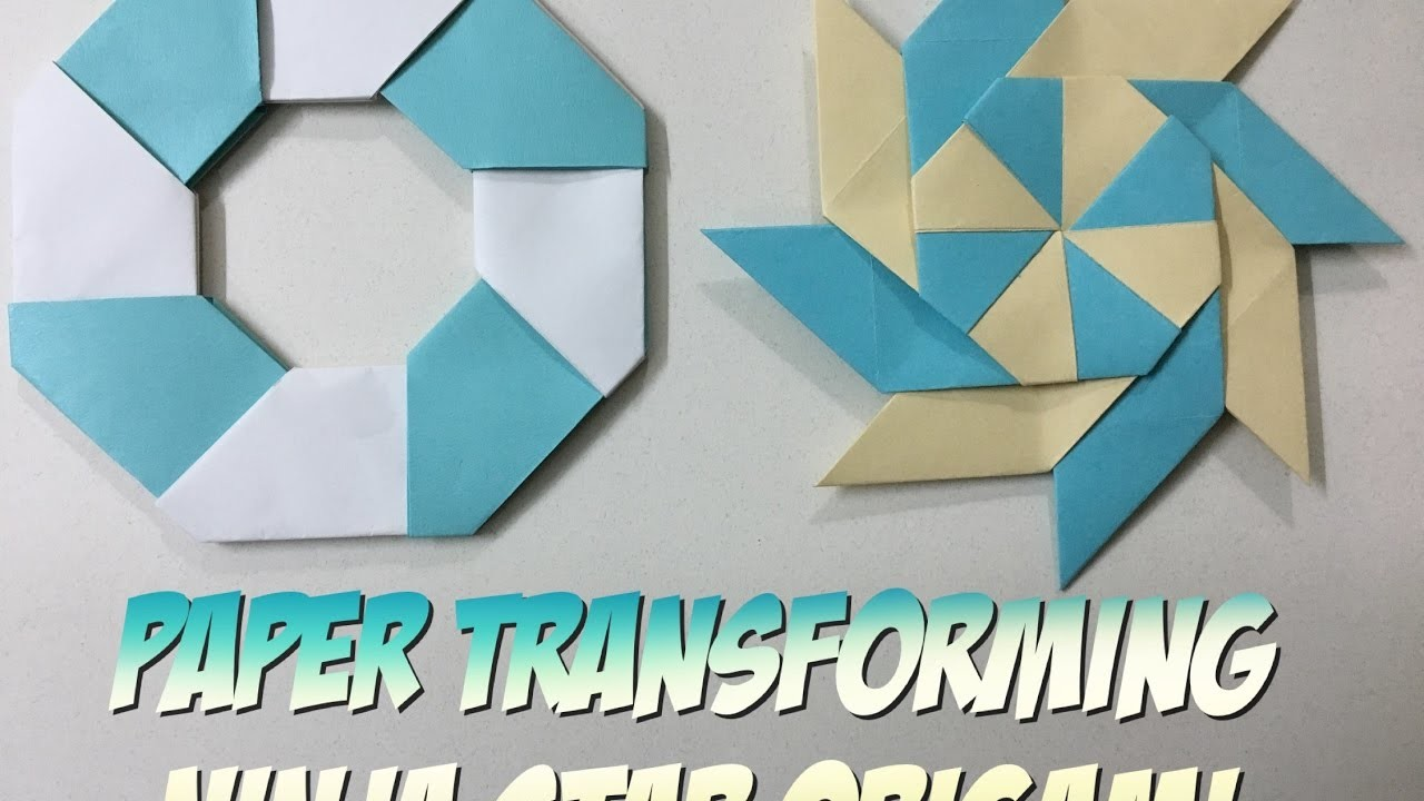 how to make a paper transforming ninja star easy origami