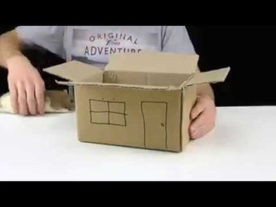 How to make a rat of house in 5 minutes by cardboard?? let's see !!!
