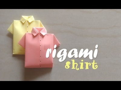 How to make a shirt from Paper - Origami Shirt