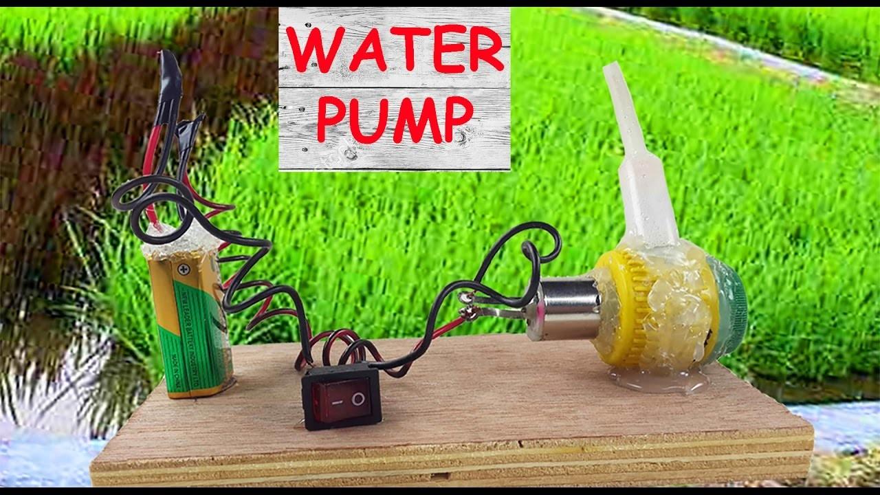 How to Make a Water Pump - Mini Centrifugal Pump - Water Turbine