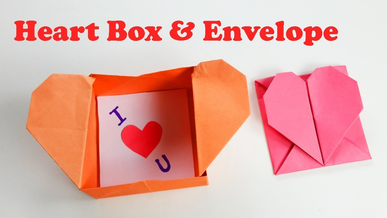 how to make an origami heart box amp envelope popup heart