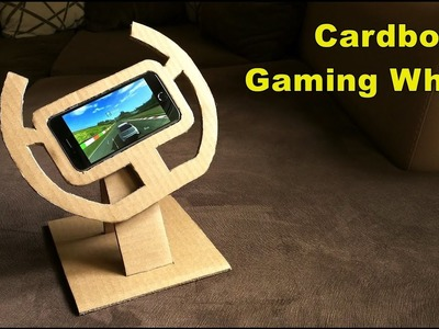 How to make Cardboard GAMING WHEEL