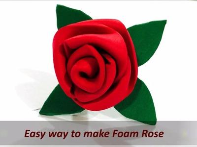 How to make easy flower (Rose) using foam sheet