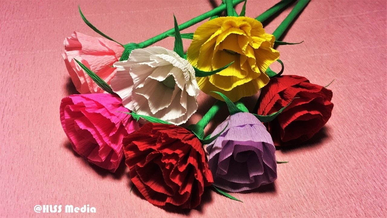 How to make easy origami rose paper beautiful rose crepe for Paper rose origami