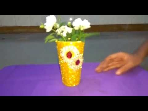 How to make Flower pot from Waste Material.