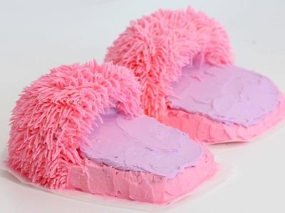 How to make Fuzzy Slipper CAKES!! | RECIPE