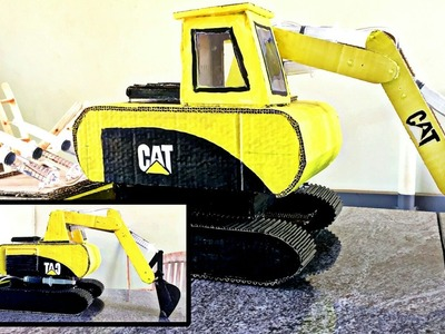 How To Make Hydraulic JCB At Home | Using Cardboard