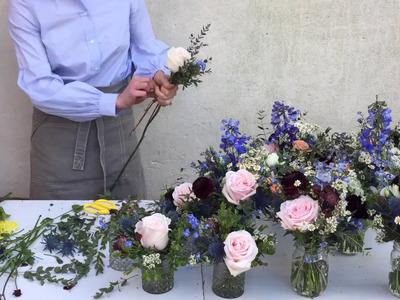 How to make jam jar flower arrangements?