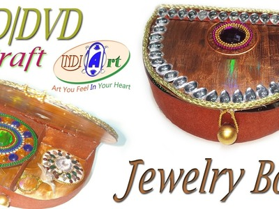 How to make jewellery box whit CD And DVD| waste out of best | indi art | #20