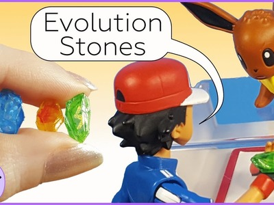 How to Make Miniature Pokemon Evolution Stones. DIY Pokemon Fire, Water, & Thunder Stones
