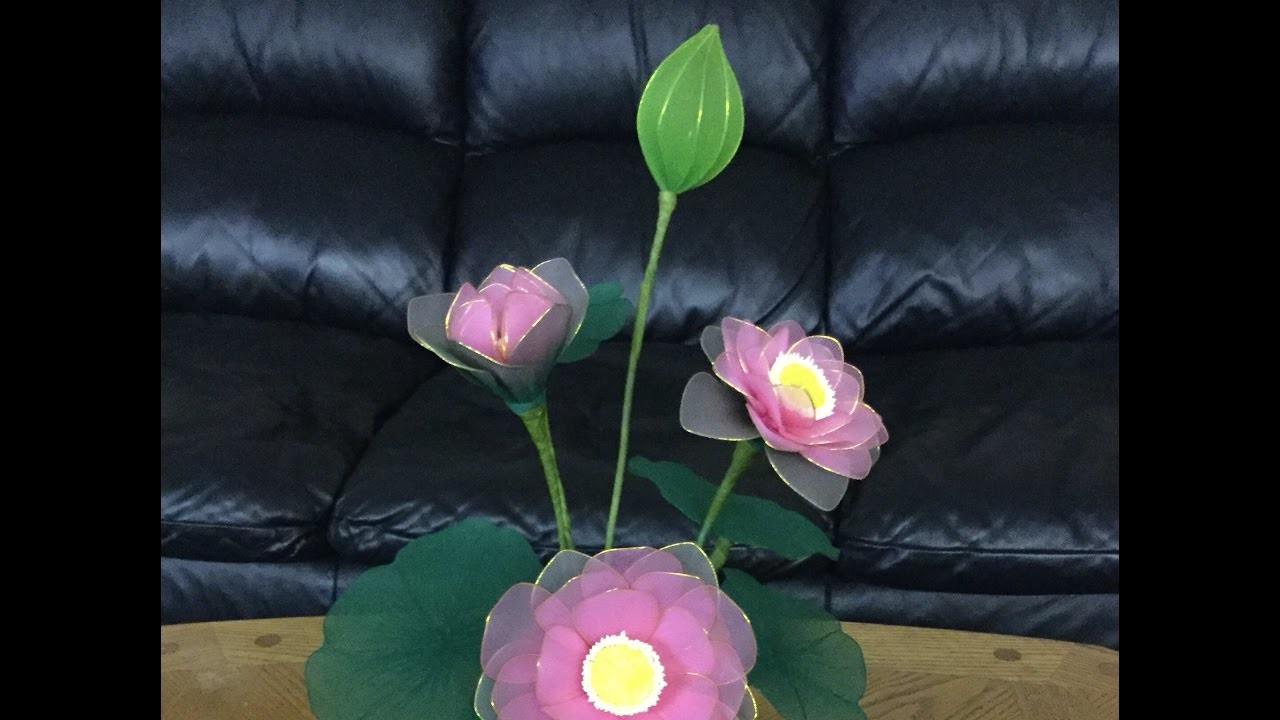 How To Make Nylon Stocking Flowers Lotus My Crafts And