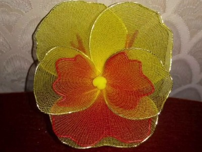 How to make nylon stocking flowers - pansy