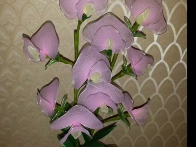 How to make nylon stocking flowers - Sweet pea