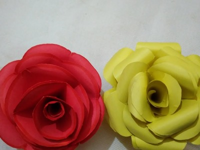 How to make paper flowers -easy tutorial for beginners by simran sharma