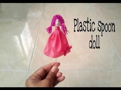 How to make plastic spoon doll