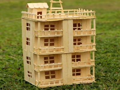 How to Make Popsicle Stick House - Building Popsicle Mansion