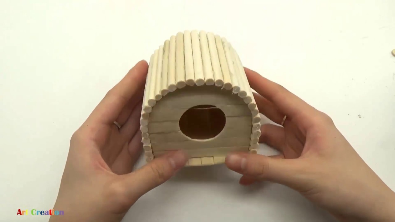 how to make popsicle stick house for hamster house for