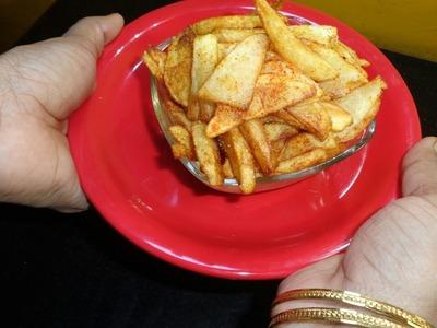 How to make potato finger chips for fast- उपवासाचे बटाट्याचे फिंगर चिप्स