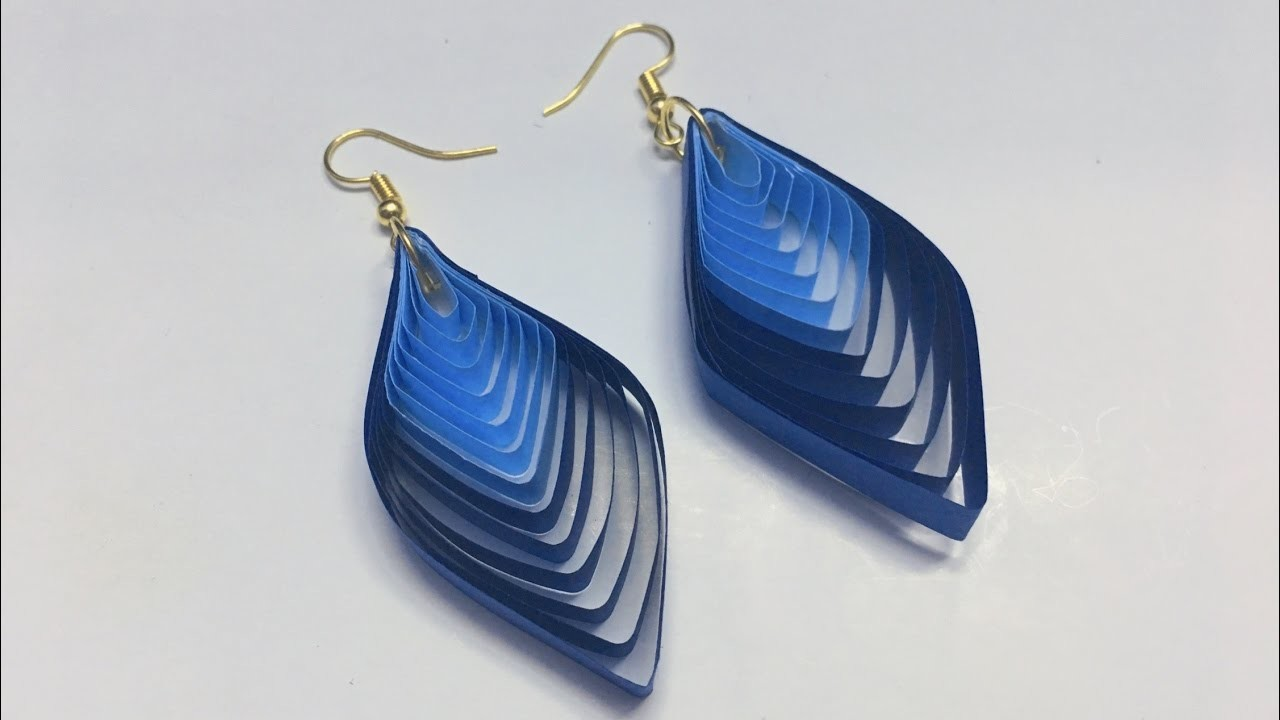 Quilling Earrings Designs Using Comb : How to make quilled winged earrings from a quilling comb, My Crafts and DIY Projects