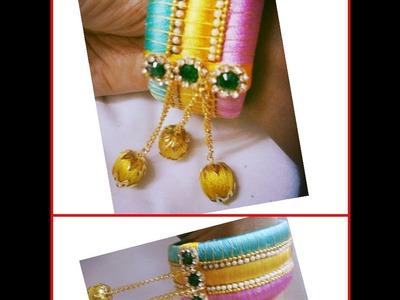 How to make silk thread bridal ware bangles
