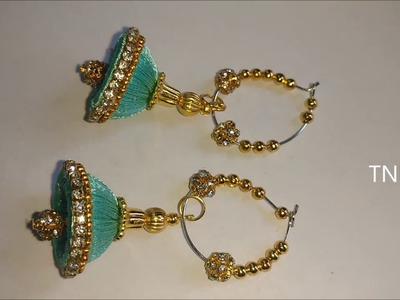 How to make silk thread jhumkas | indian silk thread bangles, silk thread earrings,simple life hacks