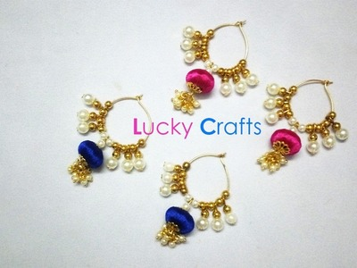 How to Make Simple Silk Thread Earrings with Pearls