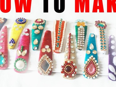 How to Make Thread Hair clips Easy at home Tutorials   zooltv