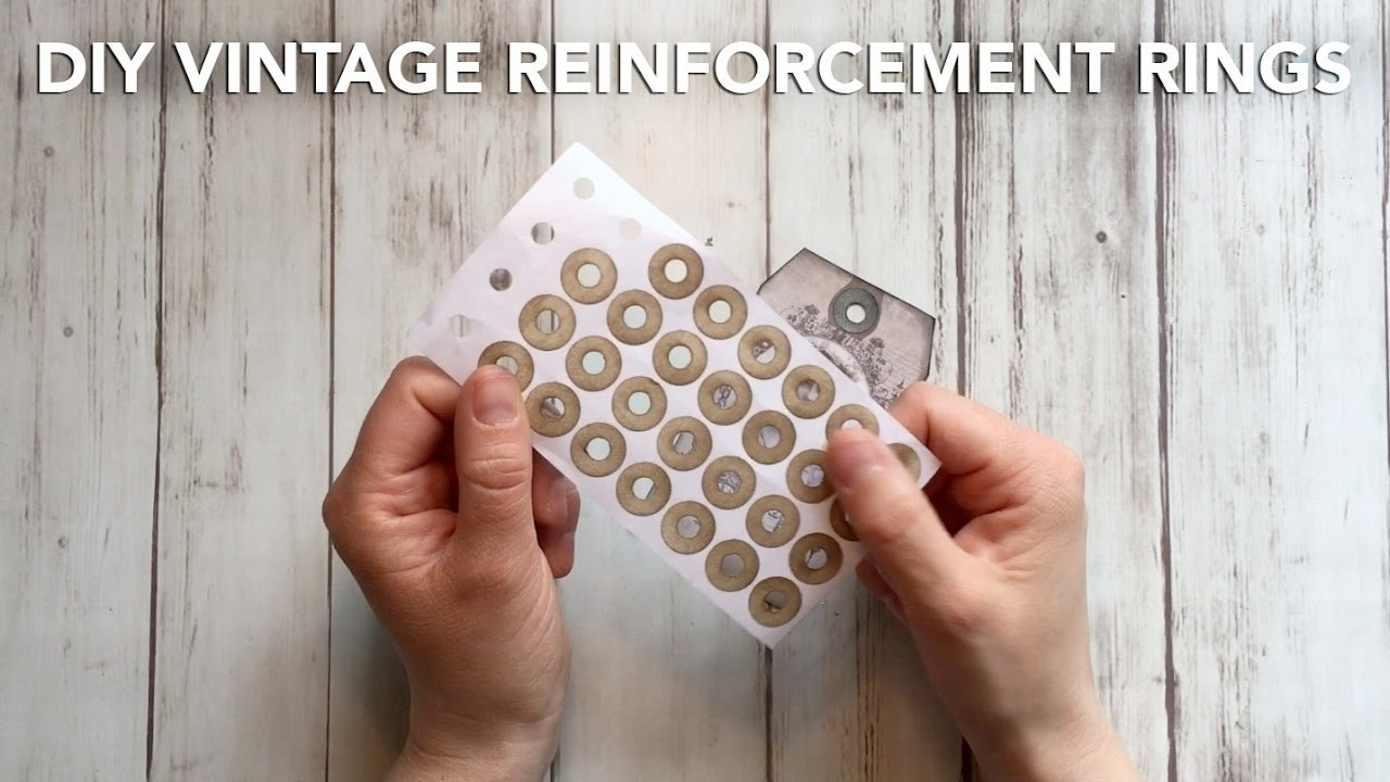 HOW TO MAKE Vintage Reinforcement Rings for pennies - TUTORIAL