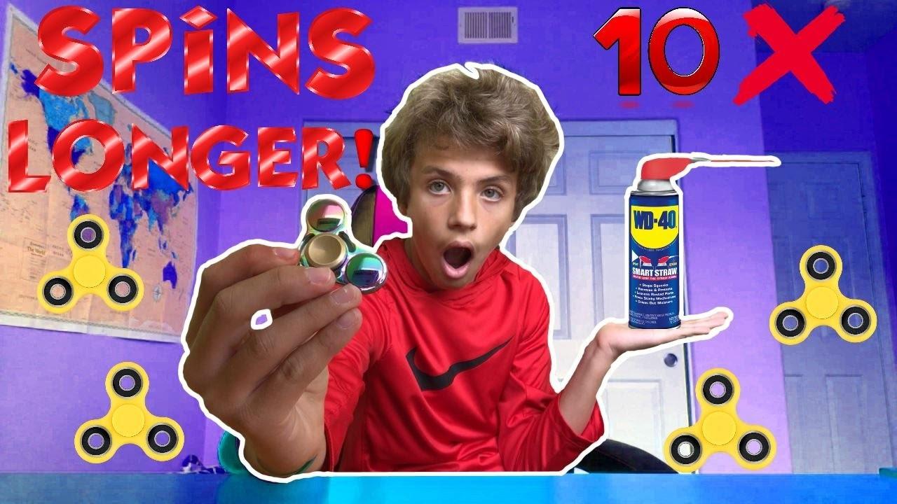 HOW TO MAKE YOUR FIDGET SPINNER SPIN LONGER! (10x longer)