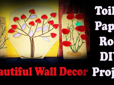 How To Making Cute Valentine heart wall decor Art Using Paper Rolls