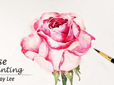 How to Paint a Rose in Watercolor | Painting Flowers Tutorial
