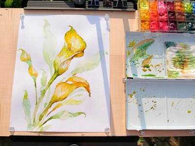 How to Paint Calla Lilies in Watercolor