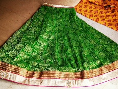 How to stitching a NET  lancha. .  from net saree. . . . !!