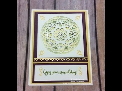 How to use Stampin' Up! Watercolor Pencils with Eastern Palace
