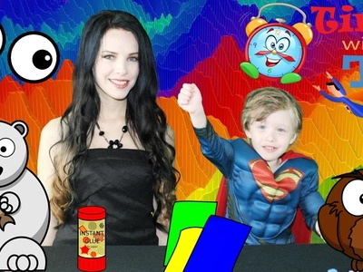 Kids SUPERHERO Superman Video Educational Crafts EXTREME FUN How to make Bookmarks