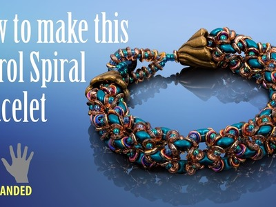 Left-handed ★ How to make this petrol spiral bracelet | Seed Beads