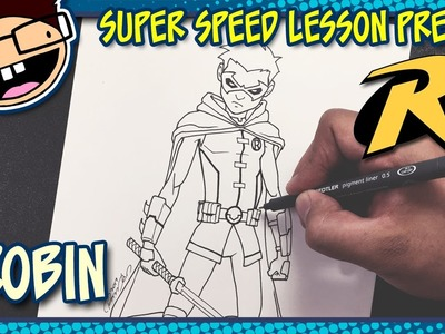 Lesson Preview: How to Draw ROBIN (Comic Version) | Super Speed Time Lapse Art