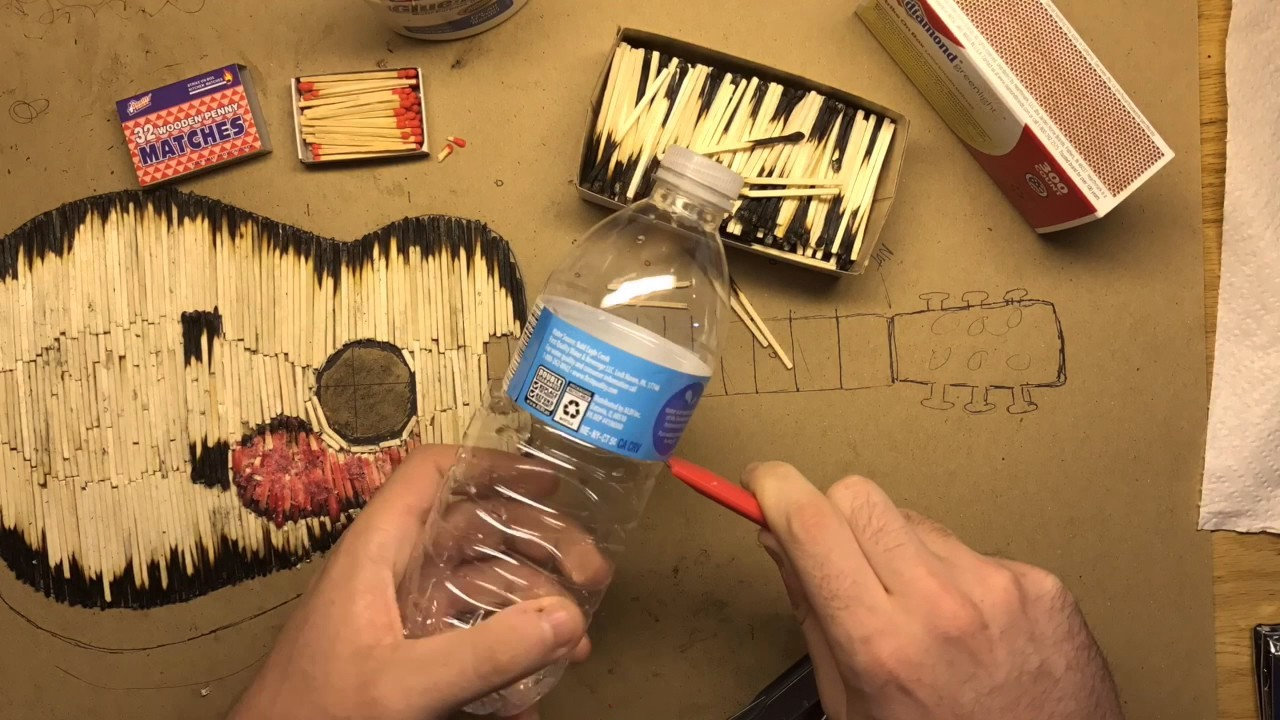 Match Crafts - Guitar (How to Make a Guitar out of Matches)