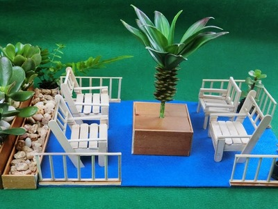 Miniature Backyard Seating | Crafts ideas - How to