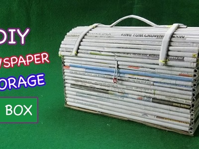 Newspaper Crafts | How to make Storage box from Newspaper & Cardboard