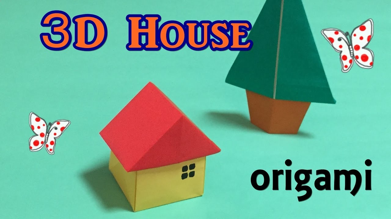 origami house 3d easy for beginners how to make a paper