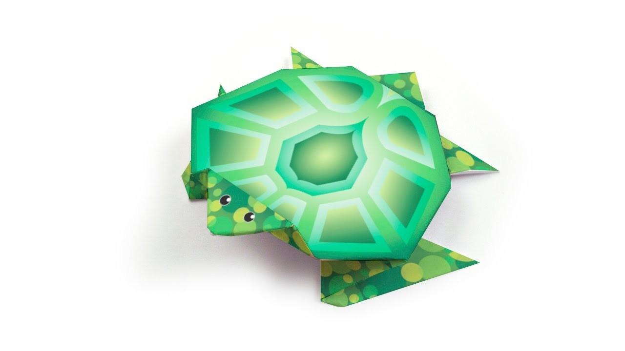origami turtle tutorial decorigami how to make an easy