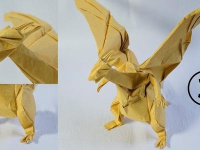 Paper Pokemon - Origami Charizard - リザードン Tutorial - Complex version Part 3 (Henry Phạm)