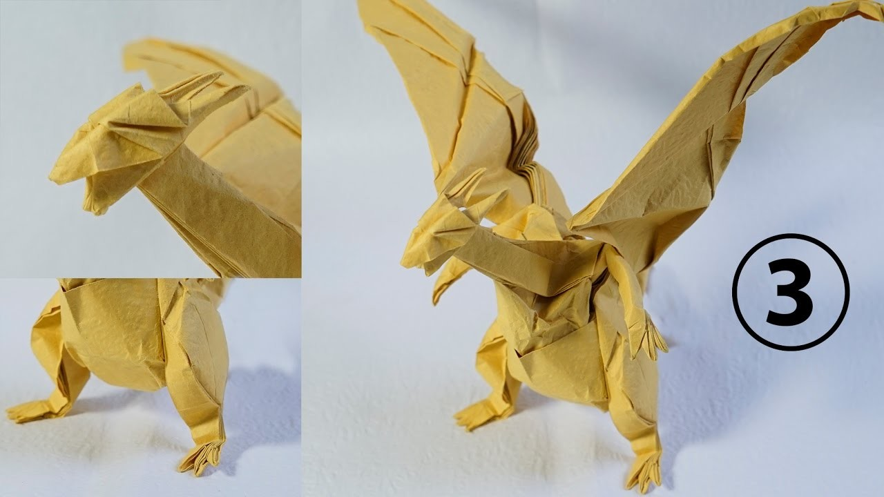paper pokemon origami charizard ���� tutorial