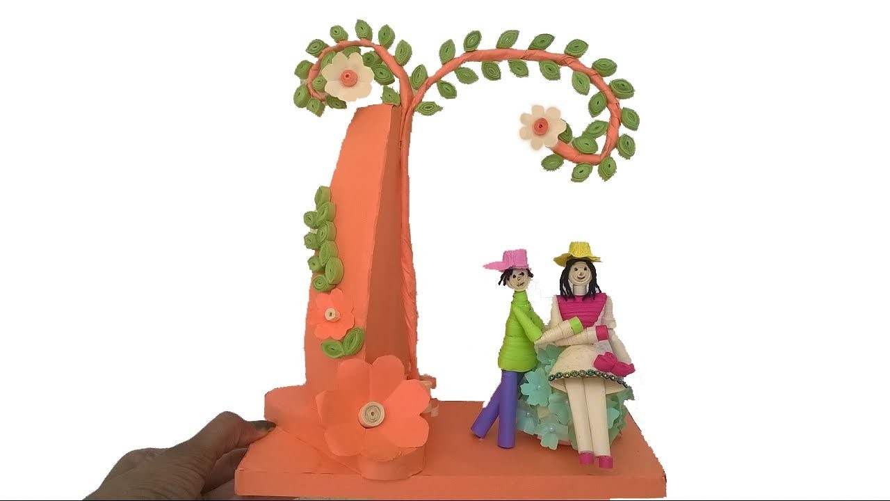 Paper Quilling Doll Showpiece    How to make doll using paper   DIY