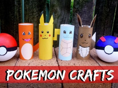 Pokemon Crafts - How to Make Pikachu and  Friends